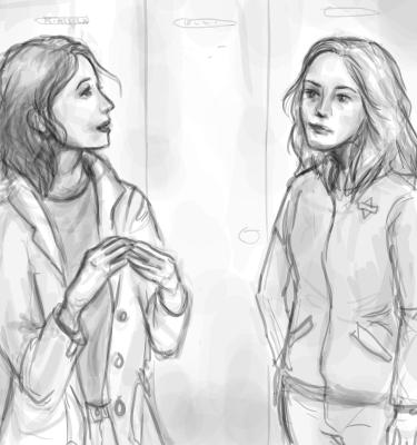 Kulmain alta vaihdettuja katseita Marta